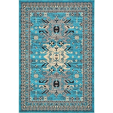 World Menagerie Sina Turquoise Area Rug; 5' x 8'