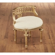 Astoria Grand Hurst Hand Carved Barrel Chair; Gold