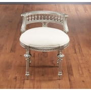 Astoria Grand Hurst Hand Carved Barrel Chair; Silver