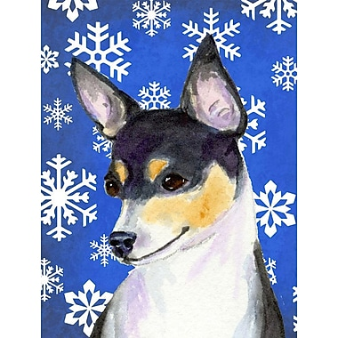 East Urban Home Winter Snowflakes Holiday House Vertical Flag; Chihuahua 5