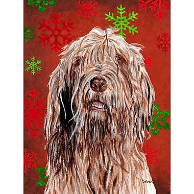The Holiday Aisle Snowflakes Christmas House Vertical Flag; Otterhound (Brown)