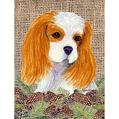 Caroline's Treasures House Vertical Flag; Cavalier Spaniel