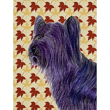 Caroline's Treasures Fall Leaves 2-Sided Garden Flag; Skye Terrier