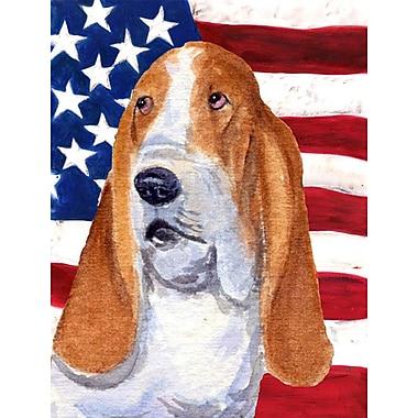 Caroline's Treasures American Flag 2-Sided Garden Flag; Basset Hound 5