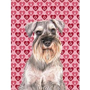 Caroline's Treasures Cooper Love and Hearts Boxer 2-Sided Garden Flag; Schnauzer (Beige and Gray)
