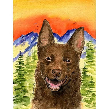 East Urban Home Dog and Mountain 2-Sided Garden Flag; Australian Kelpie (Brown )