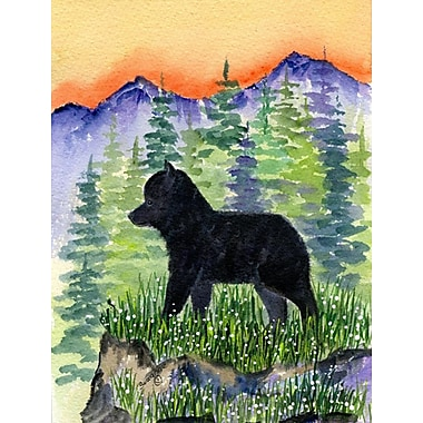 East Urban Home Dog and Mountain 2-Sided Garden Flag; Schipperke