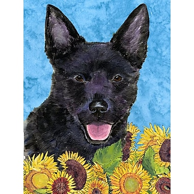 East Urban Home Dog and Sunflowers 2-Sided Garden Flag; Australian Kelpie