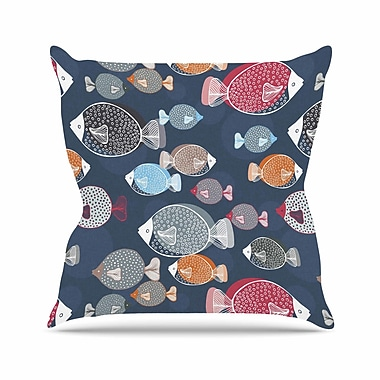 East Urban Home Melissa Armstrong Swim School Outdoor Throw Pillow; 18'' H x 18'' W x 5'' D