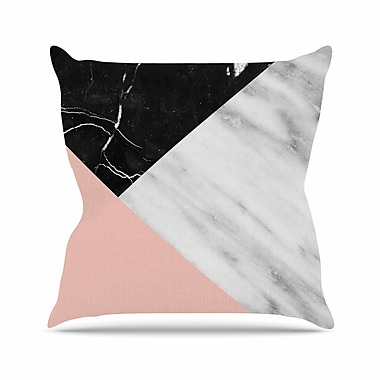 East Urban Home Cafelab Marble Collage w/ Pale Outdoor Throw Pillow; 16'' H x 16'' W x 5'' D