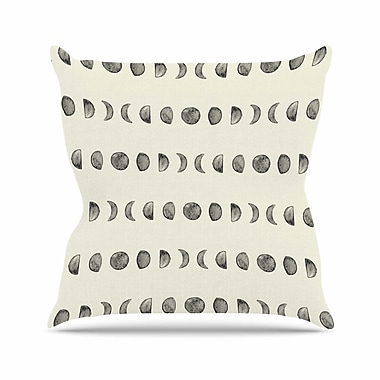 East Urban Home Phases of the Moon Outdoor Throw Pillow; 16'' H x 16'' W x 5'' D