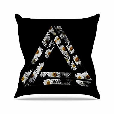 East Urban Home Alias Impossible Daisy Chain Outdoor Throw Pillow; 18'' H x 18'' W x 5'' D
