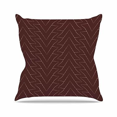 East Urban Home Julia Grifol Triangles Pattern Outdoor Throw Pillow; 16'' H x 16'' W x 5'' D