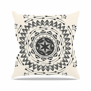 East Urban Home Famenxt Boho Tribe Mandala Outdoor Throw Pillow; 16'' H x 16'' W x 5'' D