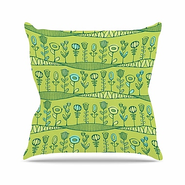 East Urban Home Holly Helgeson Hattie's Garden Floral Outdoor Throw Pillow; 16'' H x 16'' W x 5'' D