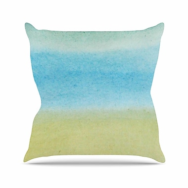 East Urban Home Jennifer Rizzo Watercolor Paint Stripe Outdoor Throw Pillow; 16'' H x 16'' W x 5'' D