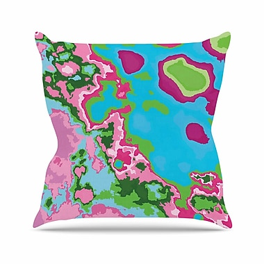 East Urban Home Empire Ruhl Spring Agate Abstract Outdoor Throw Pillow; 18'' H x 18'' W x 5'' D