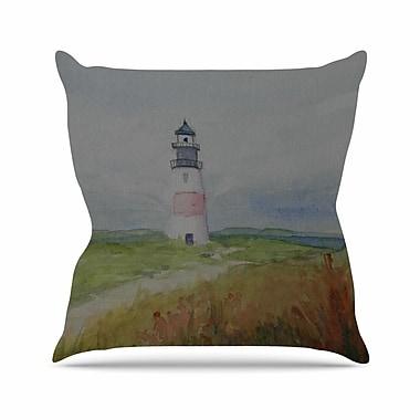 East Urban Home Cyndi Steen Sankaty Lighthouse Outdoor Throw Pillow; 16'' H x 16'' W x 5'' D
