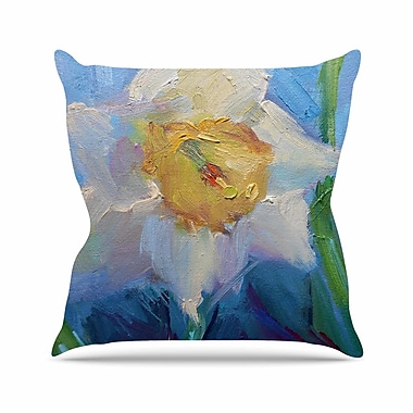 East Urban Home Carol Schiff Daffodil Day Outdoor Throw Pillow; 16'' H x 16'' W x 5'' D