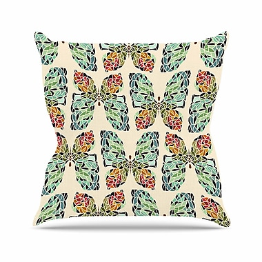 East Urban Home Art Love Passion Butterfly Pattern Outdoor Throw Pillow; 18'' H x 18'' W x 5'' D