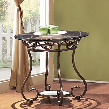 Fleur De Lis Living Christina Glass & Metal End Table