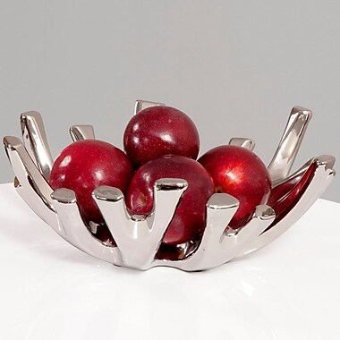 Ivy Bronx Nickel Branch Ceramic Decorative Bowl
