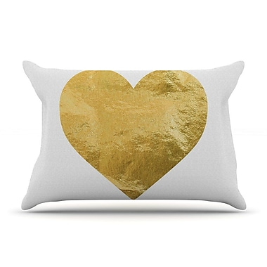 East Urban Home 'Heart Of Gold' Pillow Case
