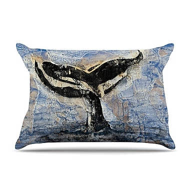 East Urban Home Josh Serafin 'Whale Tail' Coastal Painting Pillow Case