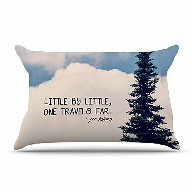 East Urban Home Robin Dickinson 'Little By Little' Clouds Typography Pillow Case
