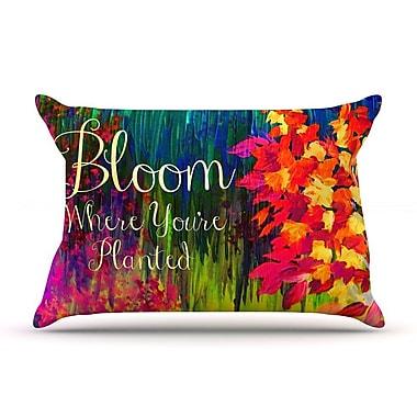 East Urban Home Ebi Emporium 'Bloom Where You'Re Planted' Floral Pillow Case
