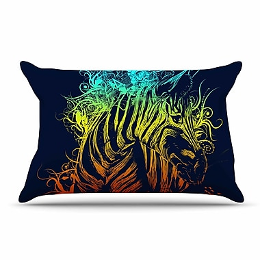 East Urban Home Frederic Levy-Hadida 'Wild Nature' Rainbow Zebra Pillow Case