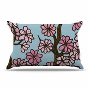 East Urban Home Art Love Passion 'Cherry Blossom Day' Floral Illustration Pillow Case