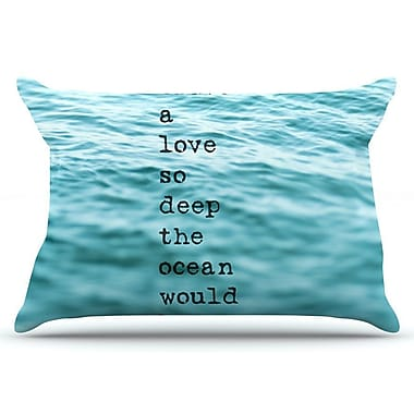 East Urban Home Debbra Obertanec 'Crave Love' Ocean Pillow Case