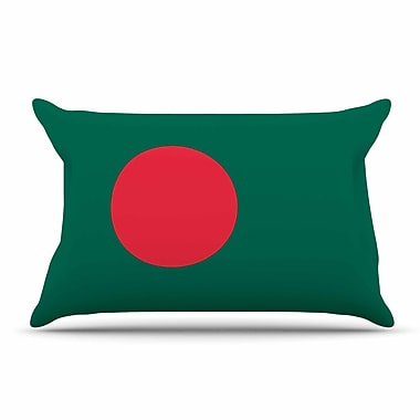 East Urban Home Bruce Stanfield 'Flag Of Bangladesh' Digital Pillow Case