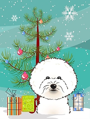 Caroline's Treasures Christmas Tree 2-Sided Garden Flag; Bichon Frise