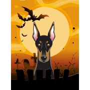 Caroline's Treasures Halloween Spook Vertical Flag; Doberman