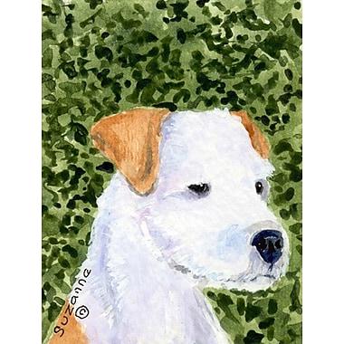 Caroline's Treasures House Vertical Flag; Jack Russell Terrier 1