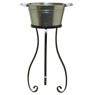 August Grove Alderson Galvanized Bucket Stand