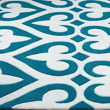 AllStar Rugs Hand-Tufted Turquoise Area Rug