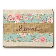 Ophelia & Co. 'Home Floral' Rectangle Graphic Art Print on Wood