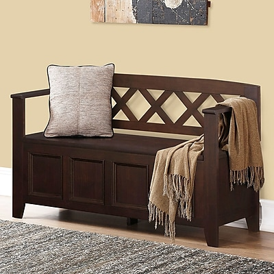 Darby Home Co Otterville Wood Storage Bench;