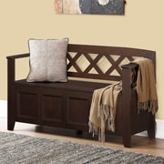 Darby Home Co Otterville Wood Storage Entryway Bench; Dark Brown
