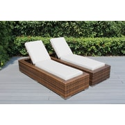 Ohana Depot Ohana Chaise Lounge w/ Cushion (Set of 2); Sunbrella Natural