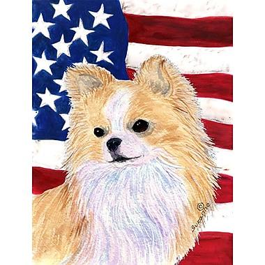 Caroline's Treasures USA American House Vertical Flag; Chihuahua 2