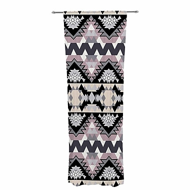 East Urban Home Victoria Krupp Nordic Ice Abstract Sheer Rod Pocket Curtain Panels Panels (Set of 2)