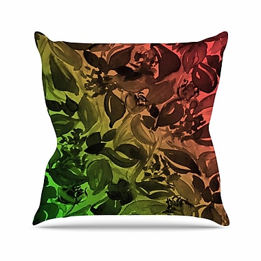 East Urban Home Ebi Emporium Blossoms Unchained 3 Outdoor Throw Pillow; 16'' H x 16'' W x 5'' D