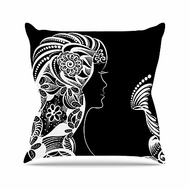 East Urban Home Maria Bazarova Horoscope Virgin Outdoor Throw Pillow; 18'' H x 18'' W x 5'' D
