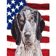 Caroline's Treasures American Flag 2-Sided Garden Flag; Coonhound (Brown & White)