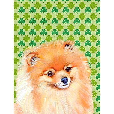 East Urban Home St. Patrick's Day Shamrock 2-Sided Garden Flag; Pomeranian