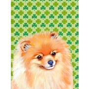 East Urban Home St. Patrick's Day Shamrock 2-Sided Garden Flag; Pomeranian